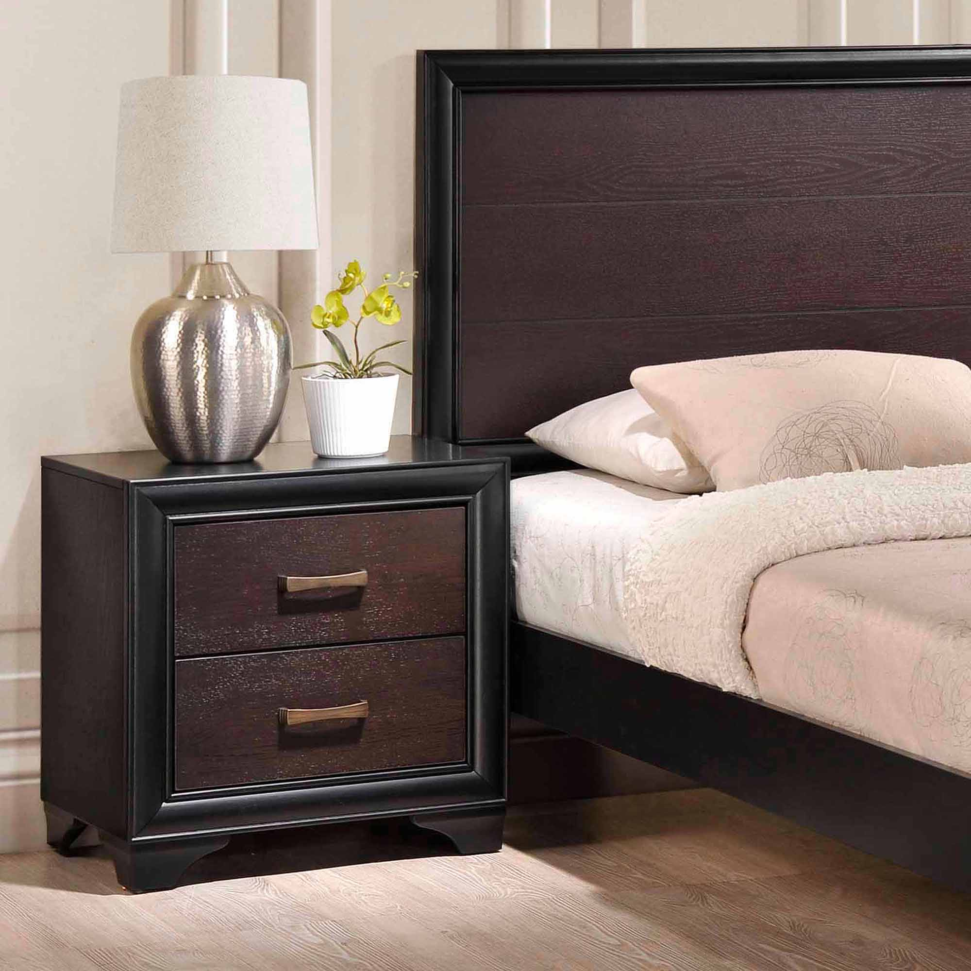 Modway madison 2 drawer nightstand fully assembled in walnut walmart com