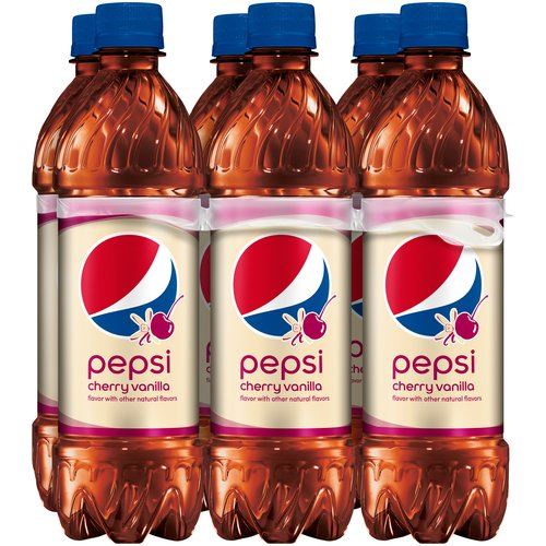 Pepsi Cherry Vanilla Cola, 16.9 fl oz, 6 pack