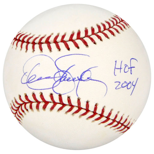 Dennis Eckersley Oakland Athletics Autographed Baseball with HOF 04 Inscription