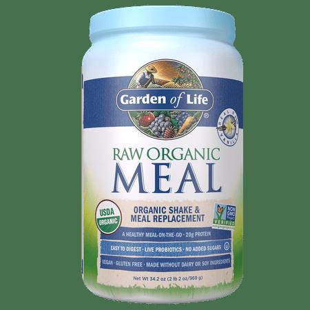 Garden of Life Raw Organic Meal Vanilla 34.2oz (2lb 2oz / 969g) Powder