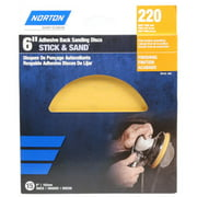Norton 50133-038 Adhesive-Back Sanding Discs, Gold, 220 Grit, 6-In., 15-Ct. - Quantity 1