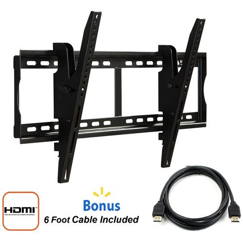 "@.com Tilting Wall Mount for 37"" to 84"" TVs and HDMI Cable"