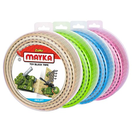 - Mayka Toy Block Tape (4-pack) - 6.5 ft 4-stud