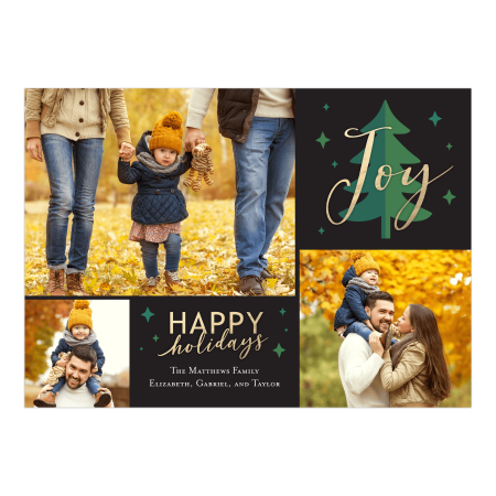 Personalized Holiday Photo Card - Joyful Tree