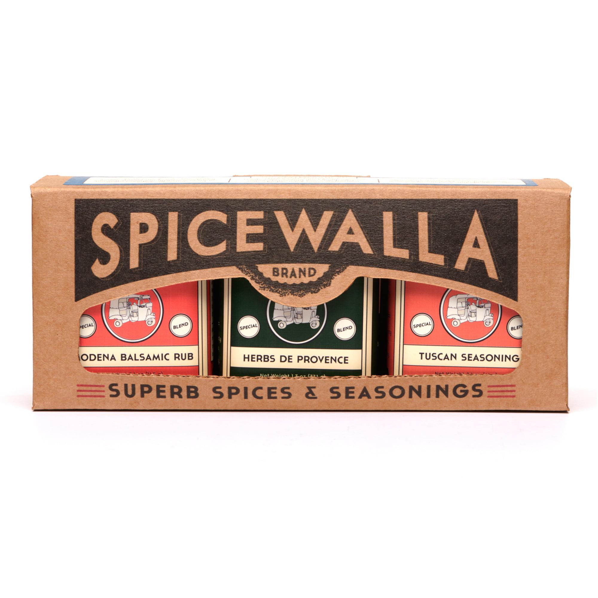 Spicewalla Mediterranean Spices 3 Pack 7 Oz Collection Tuscan Seasoning Herbs De Provence Modena Balsamic Rub Spice Seasonings And Blends Walmart Com