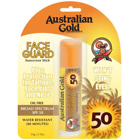 Ultra Strength Face Guard Sunscreen Stick Spf 50 For Easy Application Australian Gold   5 Oz