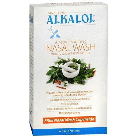 Alkalol Nasal Wash Mucus Disolvente y limpiador Nasal 480 ml (paquete de 12)