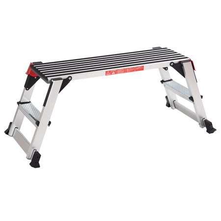 Goplus 330lbs Aluminum Step Stool Folding Bench Work