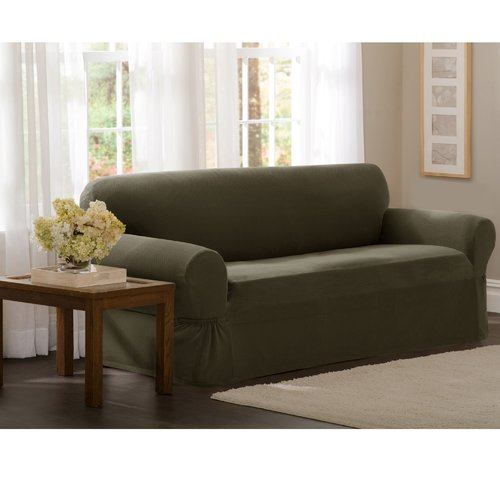 Maytex Pixel Stretch 1 Piece Loveseat Furniture Cover Slipcover