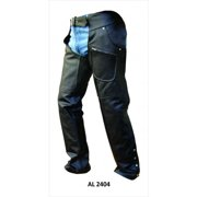 Men's Bike Small Size V Shaped Spandex Premium Analine Cowhide Leather Chaps with Zippered Closure