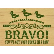 Inkadinkado Ducks in A Row Mounted Rubber Stamp, 2.25