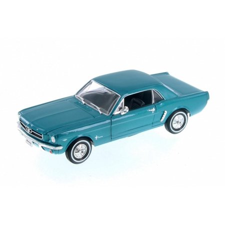 1964 Ford Owners Manual - 1964 Ford 1/2 Mustang Coupe, Green - Welly 22451WGN - 1/24 Scale Diecast Model Toy Car