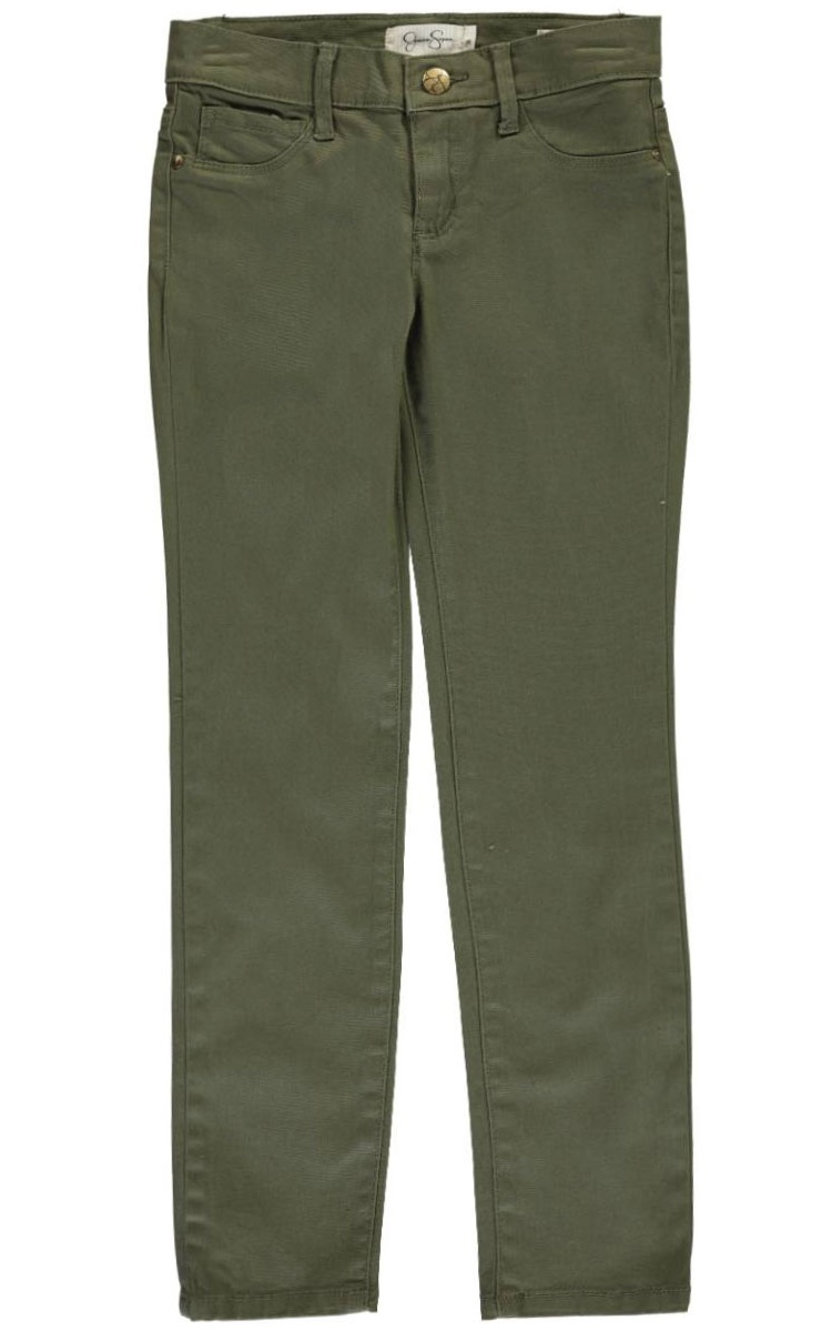 Jessica Simpson Big Girls Daybreak Skinny Pants Olive 12