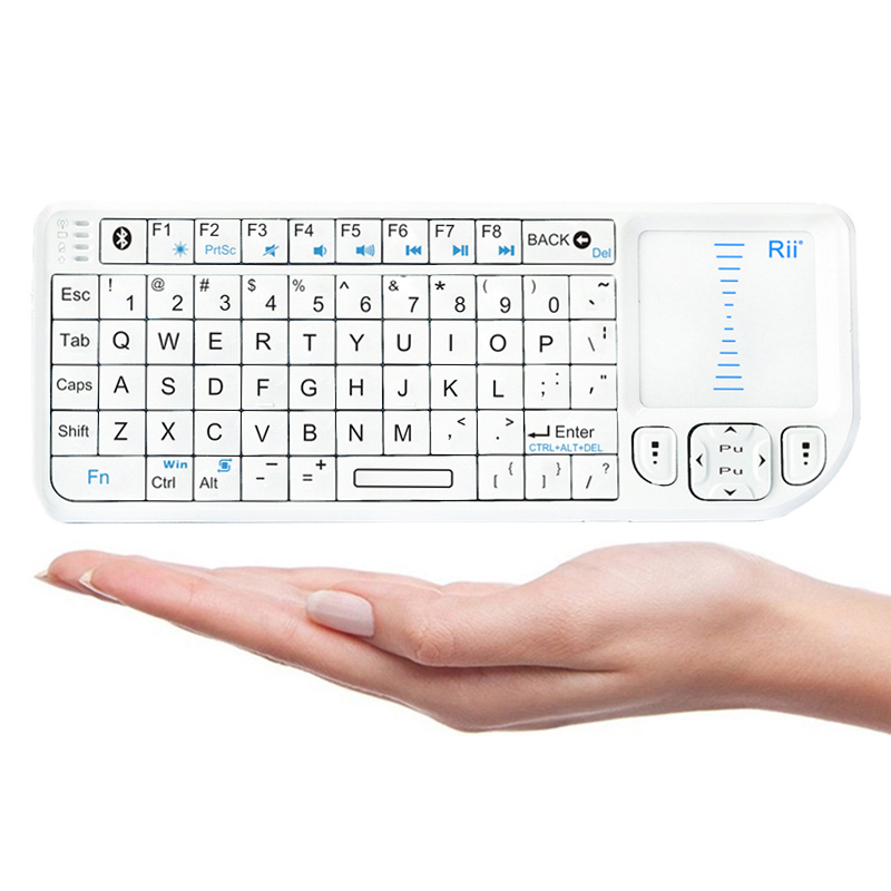 Rii Mini Wireless Bluetooth Keyboard Touchpad with Laser Pointer for Smartphone and Tablet (mini X1 BT)