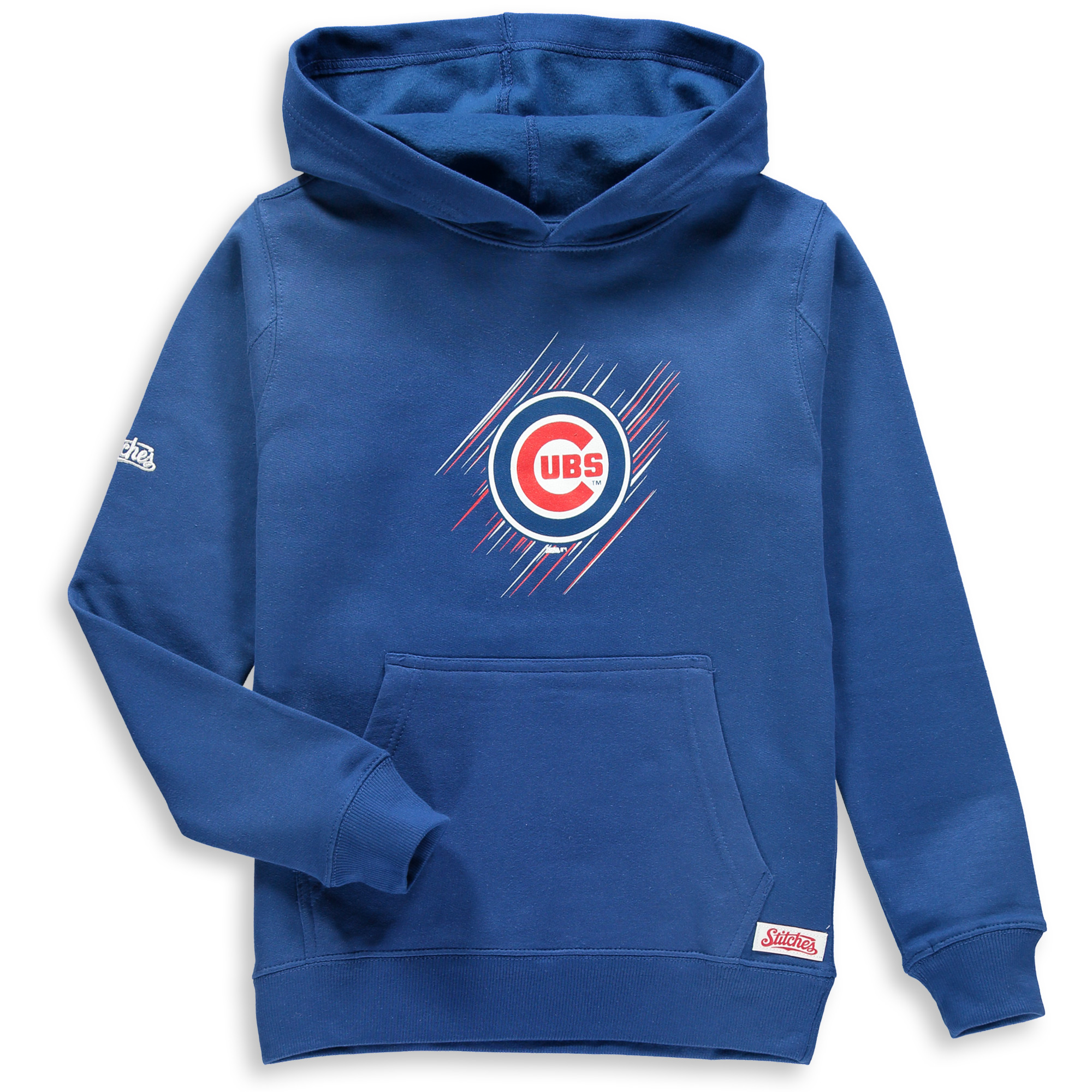 Chicago Cubs Stitches Youth Pullover Hoodie - Royal