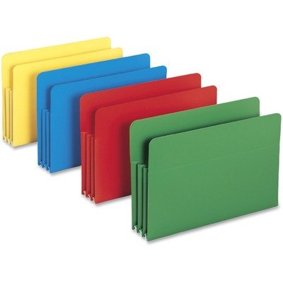 NEW - Expansion Drop Front File Pockets Straight Tab Poly Legal Assorted 4/Box - 73550 Drop Front Legal File