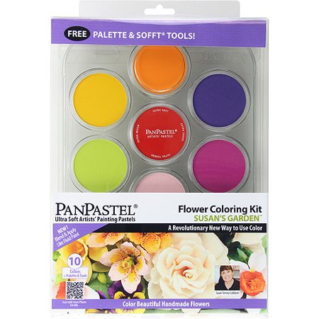 PanPastel Ultra Soft Artist Pastel Set, 9ml, 10 Pkg, Flower Coloring Kit-Susans Garden by