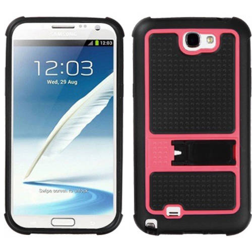 Samsung N7100 Galaxy Note 2 MyBat Gummy Cover, Horizontal Stripes Transparent Clear/Solid Black