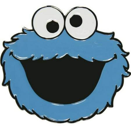 Sesame Street Cookie Monster Face Metal Belt Buckle - Sesame Street Cookies