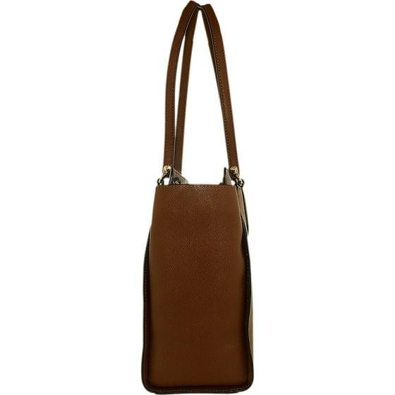 7668c039f1beaf Michael Kors - Michael Kors Women's Large Dee Dee Convertible Leather  Shoulder Bag Tote - Plum - Walmart.com