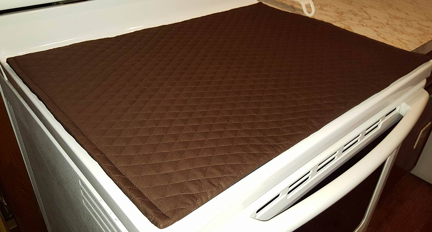 Quilted Cover Protector For Gl Ceramic Stove Top Cooktop White