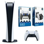 Sony Playstation 5 DIGITAL EDITION Console with Dual Charging Dock Station and ControlGrip Player Pack Bundle