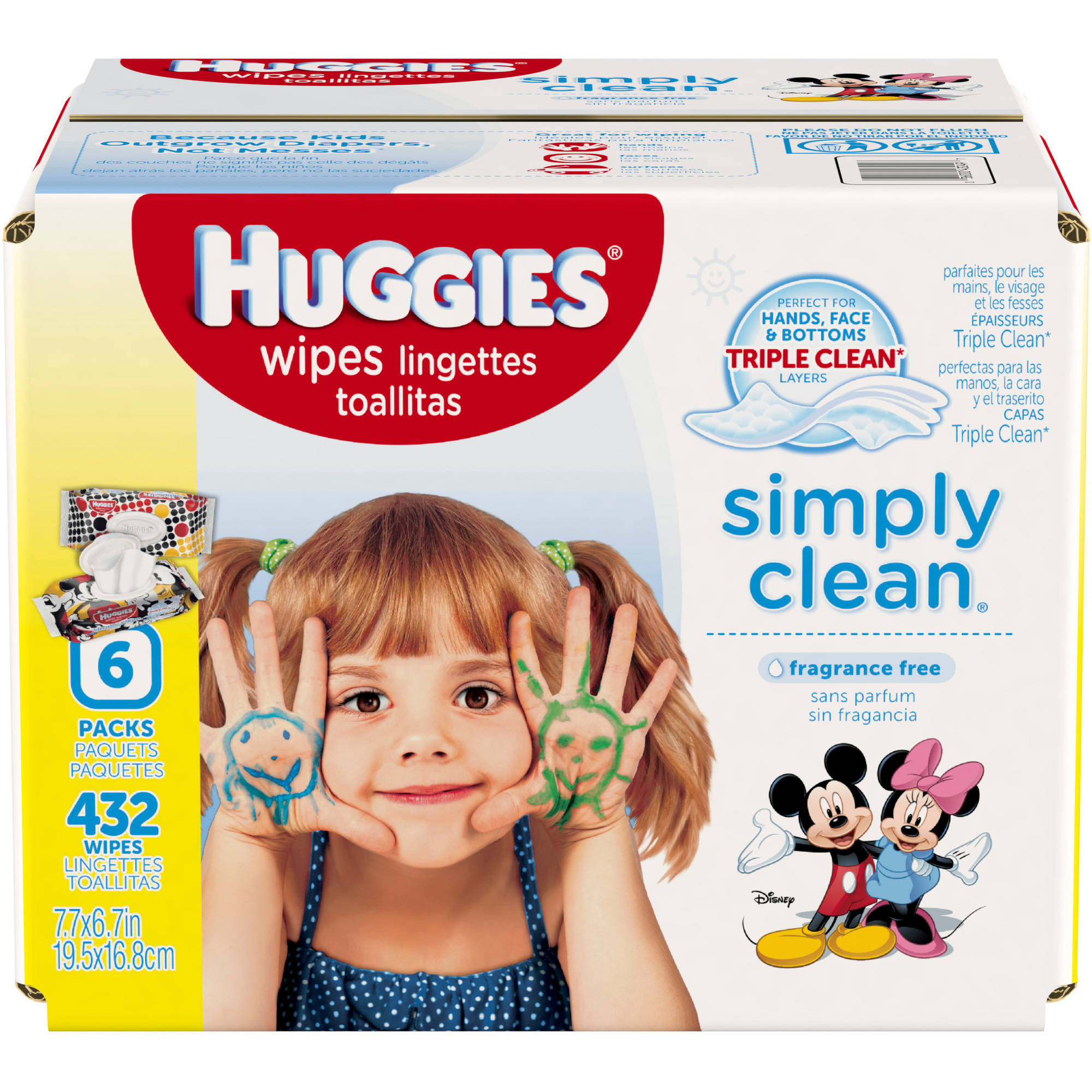 Huggies Simply Clean Fragrance Free Baby Wipes Refill, 432 ct