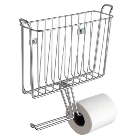 Rebrilliant Espana Wall Mounted Magazine Rack And Toilet Paper Holder