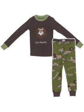 Lazy One Lion Around Cotton Boys Pajamas Size 2T