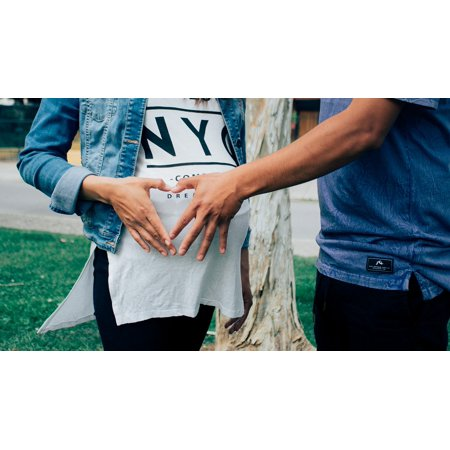 LAMINATED POSTER Pregnant Woman Love Mother Pregnancy Baby Couple Poster Print 24 x 36 (M&m Couple)