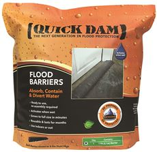 Quick Dam Expanding Flood Barrier, 6 In. X 17 Ft., 1 Per Bag