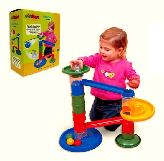 Children's Weighted Marble Building and Tracking Set - Rollipop