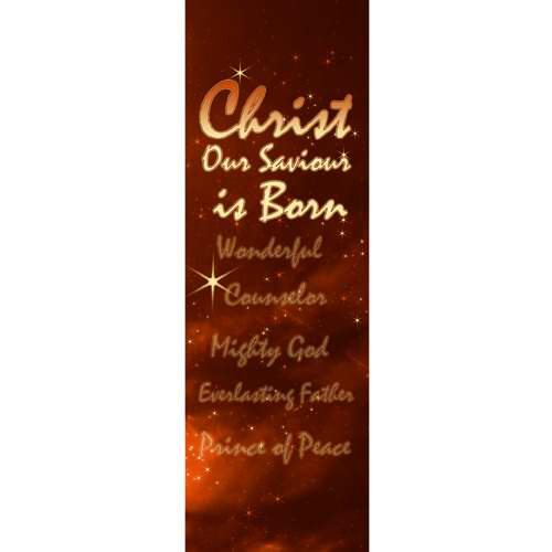 Banner-Christmas-Christ Our Savior Is Born (2'x6') (Indoor)