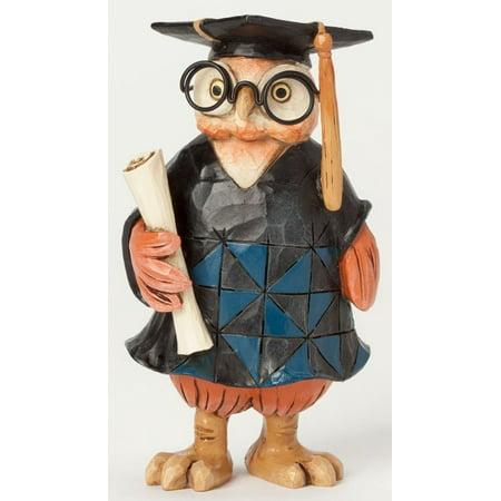 Jim Shore Special Occasions Miniature Graduation Owl Figurine 4039477 New - Miniature Owl