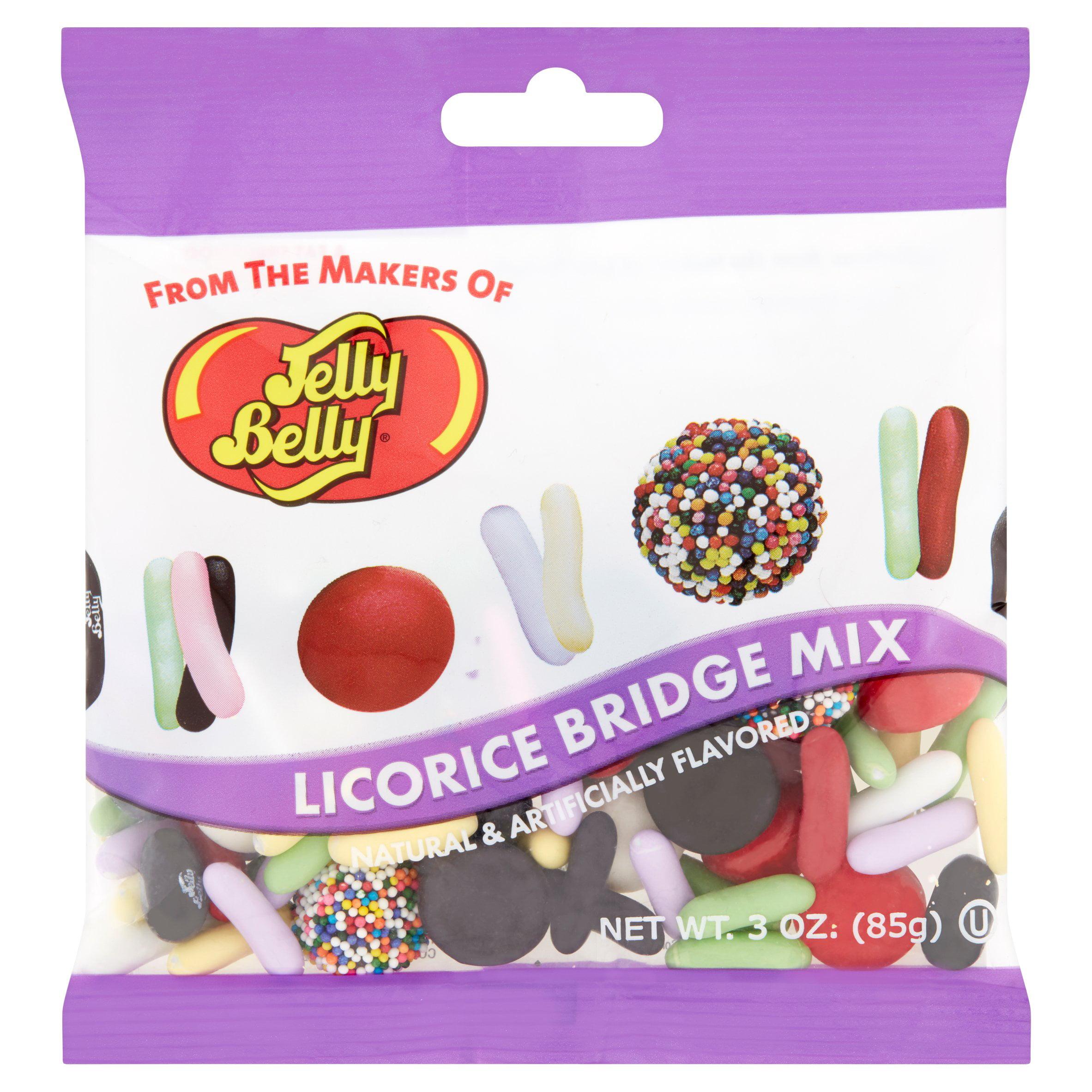 (4 Pack) Jelly Belly, Licorice Bridge Mix, 3 Oz