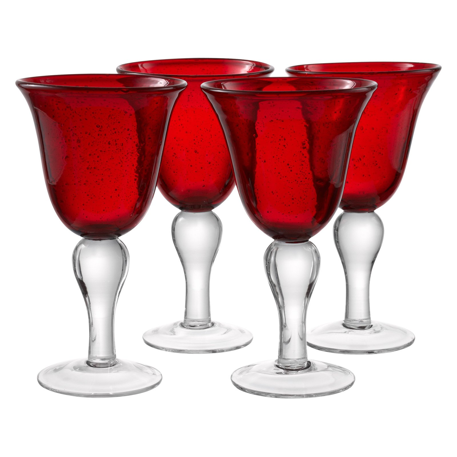 Artland Inc. Iris Ruby Goblet Glasses - Set of 4