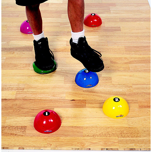 Sportime 1004570 Step-N-Stones Numbered Walk-On Dome, Set - 6