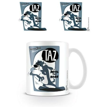 Looney Tunes - Ceramic Coffee Mug / Cup (Taz - The Tasmanian Devil - Retro Design)