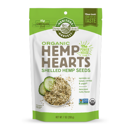 Hippie Hemp (Manitoba Harvest Organic Hemp Heart Seeds, 7.0 Oz, 6 Servings )