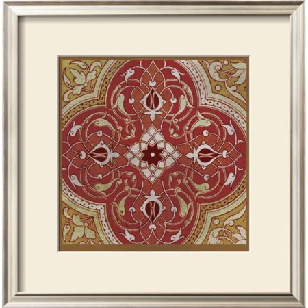 Persian Tiles IV Framed Art Print Wall Art  By Paula Scaletta - 18x18.5