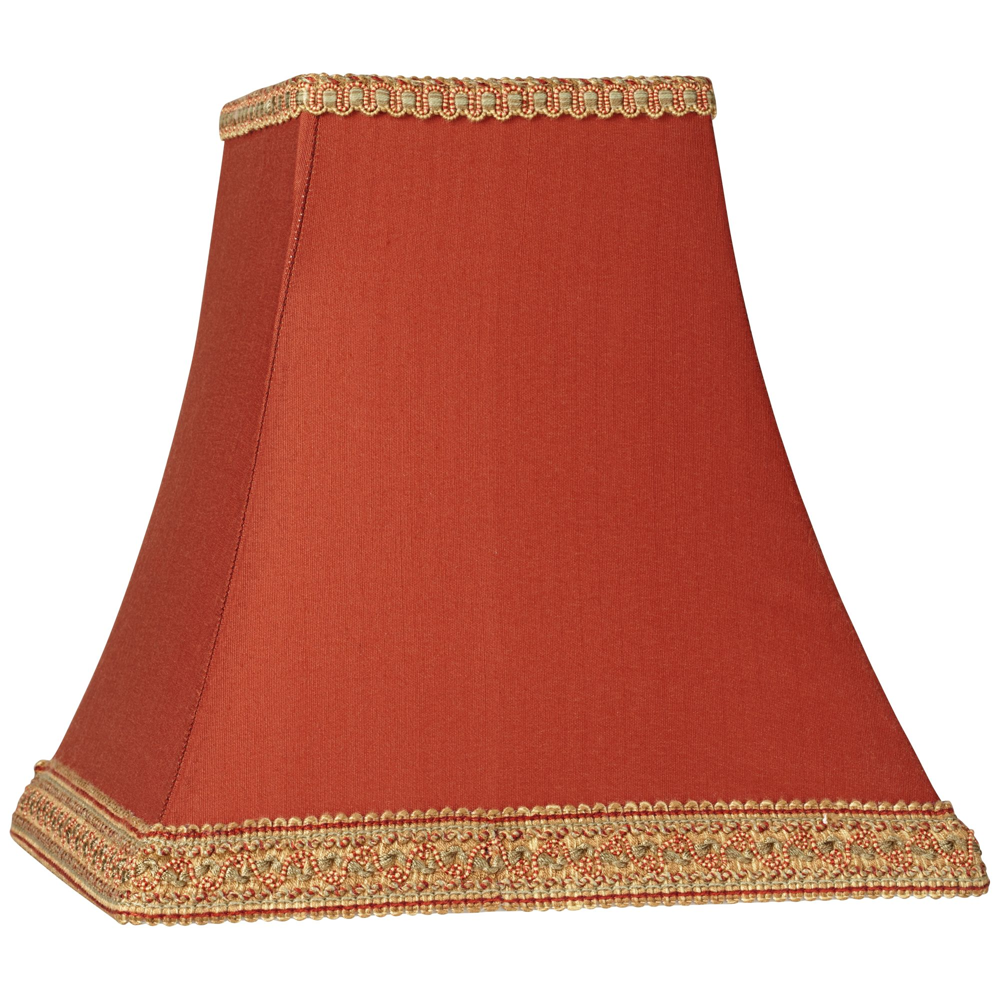 Springcrest Rust Square Sided Lamp Shade 5x10x9 (Spider)