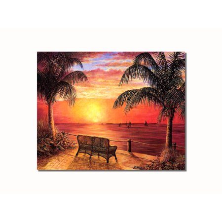 Sunset Wharf Ocean Boats Wall Picture 8x10 Art Print Ocean Sunset Pictures