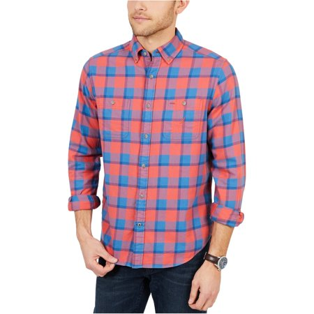 Nautica Mens Buffalo Plaid Button Up Shirt