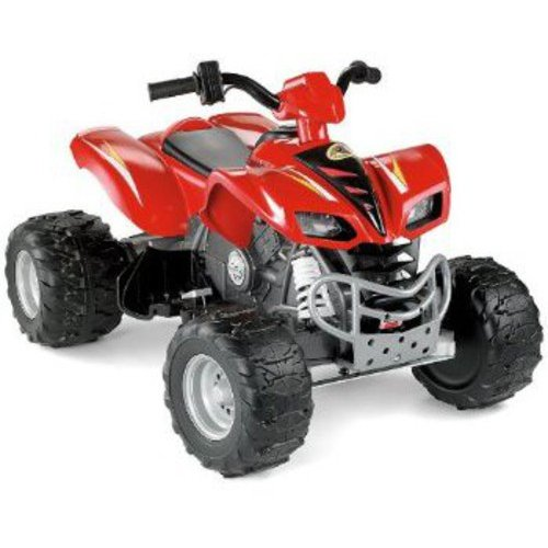 Fisher-Price Power Wheels Red Kawasaki KFX 12-Volt Battery-Powered Ride-On