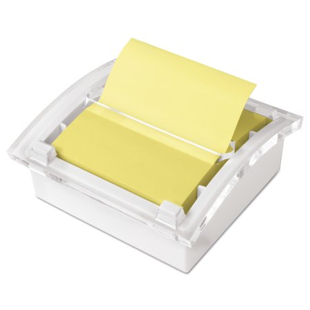 Post-it Pop-up Notes Clear Top Pop-up Note Dispenser for 3 x 3 Self-Stick Notes, Ultra Yellow