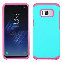 ASMYNA Teal Green/Hot Pink Astronoot Phone Protector Cover for Galaxy S8 Plus