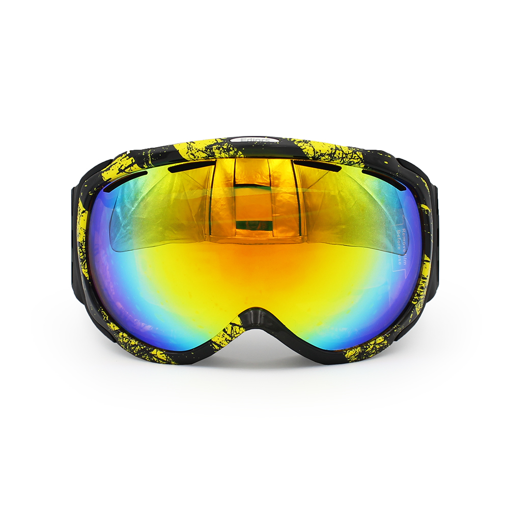 Ediors Windproof Outdoor Ski & Snowboard Goggles Dual Anti-fog Lens All Mountain   UV Protection by Ediors