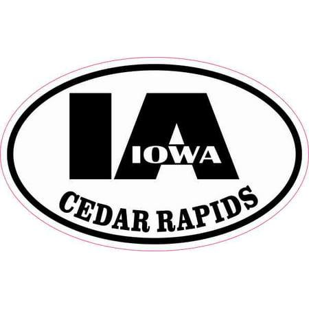 4in x 2.5in Oval IA Cedar Rapids Iowa (Cedar Rapids Malls)
