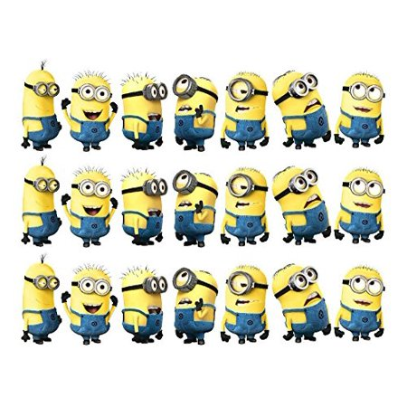 Despicable Me Minions edible cake strips cake topper decorations