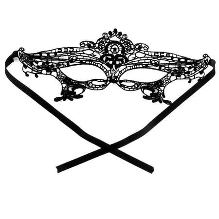 Women Sexy Masquerade Venetian Halloween Fancy Dress Eyemask Lace Eye Mask Black - Lace Catwoman Mask